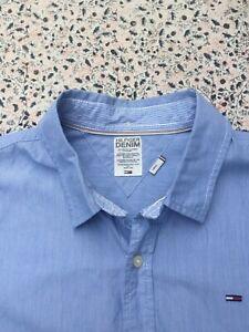 HILFIGER DENIM - Slim - Blue - Cotton - Button Cuff - Shirt - L