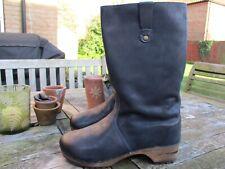 New - Fabulous Sanita  Wood - Malison Basic Incas Black Leather Boots size 41