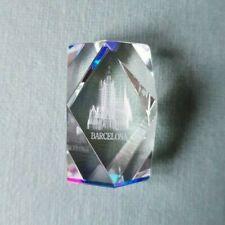 Crystal Ornaments Laser Etched 3D Block Glass Gift Boxed La Sagrada Familia