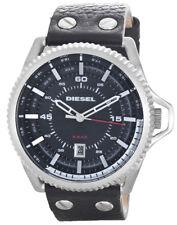 DIESEL Rollcage Black Dial Men's Leather Watch DZ1790