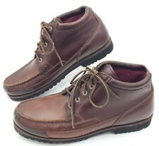 Browning Mens Sz 12M Brown Genuine Leather Lace-Up Soft Toe Boat Shoe Ankle High