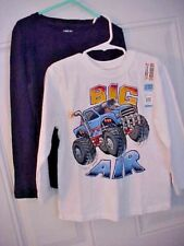 Lot of 2 Toddler Unisex T Shirts Size 5T Small Garanimals Big Air Cherokee