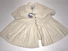 Charabia New Girls Kids PLEATED BUTTON BOLERO DRESS Sz: 5 RTL: $165 FL30A Q159