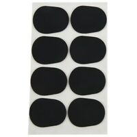 16pcs Alto/tenor Sax Clarinet Mouthpiece Patches Pads Cushions, 0.8mm Black, Q6F
