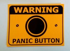 Panic Button  PVC sticker. Control Panic in your workplace today.