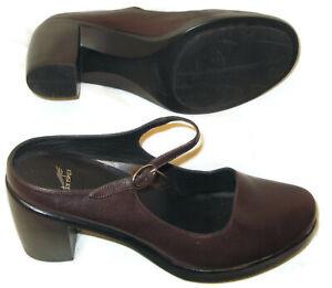 Dansko Mary Jane Pumps Women 10.5-11 / EUR 41 High Heel Brown Leather Dress Shoe