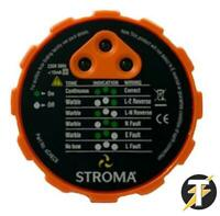 STROMA ScHECK 13 AMP Mains Socket Tester Fault Finder - 13amp 3pin UK VERSION