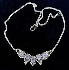 Silver Deco Design Necklace Vintage Taxco Mexico Amethyst Sterling