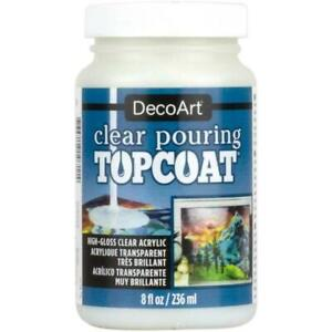 DecoArt Clear Paint Pouring Top Coat 8oz (236ml)