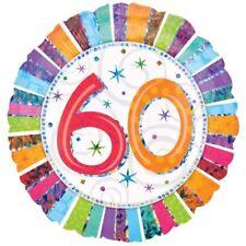 Radiant Anniversaire 60 Ballon Plat Multicolore Anagram Décoration de Fête