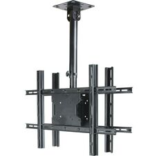 """Dual TV Monitor Ceiling Mount for 32 to 70"""" LED LCD Plasma Height 22½""""to 30"""" 1jv"""