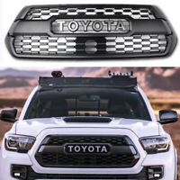 Front Grille For Toyota Tacoma Grill 2016-2020 TRD PRO W/Letter Matte Black