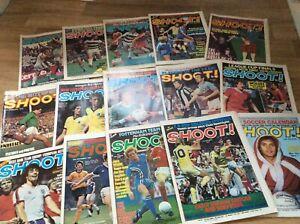 15 X VINTAGE SHOOT FOOTBALL MAGAZINES (1978) - FREEPOST UK