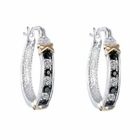 Women Crystal Rhinestone Silver Ear Stud Hoop Dangle Earrings Wedding Jewelry