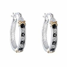 Women Creative Crystal Rhinestone Silver Ear Stud Hoop Dangle Earrings Jewelry