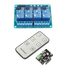 US. SainSmart 4-CH Relay Module with Infrared Remote Controllor IR Receiver 5V