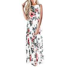 US Women Foral Boho Maxi Long Evening Party Dress Beach Sundress Summer Dress