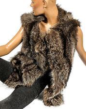 S M  Waschbär Pelzweste Weste raccoon fur vest Pelz coat raton laveur Fellweste