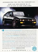 1992 VW Volkswagen Corrado SLC - Original Advertisement Print Art Car Ad J312