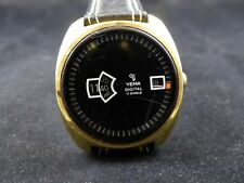 Rear hand winding DIGITAL YEMA 17 jewels  watch hard to find for collectors !!