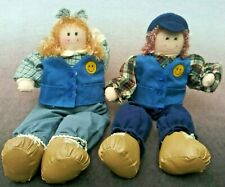 Walmart Employee Associate Boy & Girl Doll Pair Shelf Sitter Dan Dee Dolls