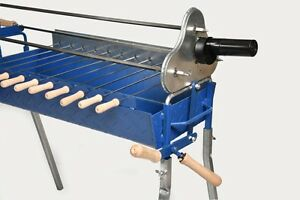 BBQ Grill with Lifting Mechanism, Electric Motor and Battery Motor