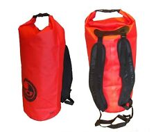 waterproof dry bag red Padded straps. 45 L carry lots of kit. KEEP YOUR CAR DRY.