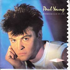 """PAUL YOUNG Wherever I Lay My Hat PICTURE SLEEVE 7"""" 45 record + jukebox strip NEW"""