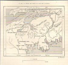 CANADA BAIE DES MINES MINAS-BAY PAYS DES ACADIENS GRAVURE ENGRAVING 1890