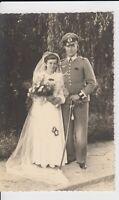 WW2 priv. Foto AK Wehrmacht Offizier Hochzeit  Schützenschnur Säbel Breslau 1942