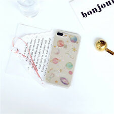 Cute Glitter Constellation Saturn Moon Soft Case Skin for iPhone 6 6s 7 8 Plus Clear for iPhone