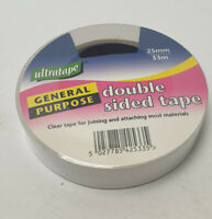 Clear Double Sided Tape for jointing and attaching most materials 25mm x 33m