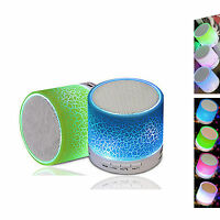 Bluetooth Speaker with LED light Mini Portable Wireless Speakers with Microphone
