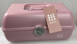Caboodles Rare Dusty Pink On The Go Girl Classic Cosmetic Makeup Travel Case#21D