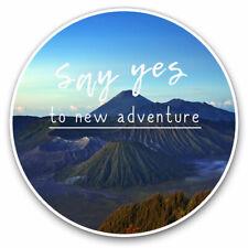 2 x Vinyl Stickers 25cm - New Adventure Motivational Cool Gift #15577