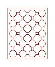 Lindner Münzbox 20 runde Vertiefungen für Münzkapseln Außen-Ø 48 mm