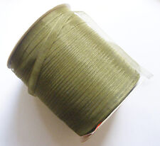 15 Meters Organza Ribbon - 7mm - Dark Olive Green