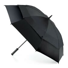 fulton stormshield double canopy winddicht lang golf regenschirm in schwarz