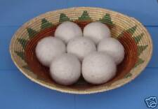 Three Natural Felted Wool Dryer Balls