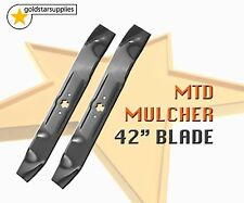 "RIDE ON MOWER BLADES To Suit MTD 42"" (6 point star) x 2 mulcher blades"
