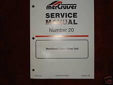 MERCRUISER DEALER SERVICE MANUAL'S-STERNDRIVES--