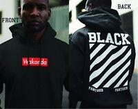 Black Panther Wakanda Off White Supreme Parody Street Wear Men Hoodies Sweatshir