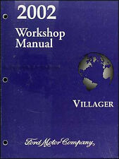 2002 Mercury Villager Shop Manual GS LS Original Repair Service Book Workshop