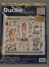 "Paper Dolls Counted Cross Stitch Bucilla 42670 13"" x 12"" Floss Multi-Lingual NEW"