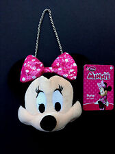 DISNEY Store PURSE for KIDS MINNIE MOUSE Plush w/ Pink Sequin Bow NWT