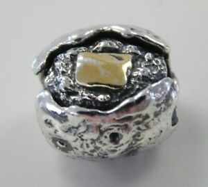 Authentic Retired OHM Sterling Silver 'Potato Potato' Bead Charm AAF008G