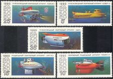 Russia 1990 Research Submarines/Boats/Nautical/Transport/Science 5v set (b1167)
