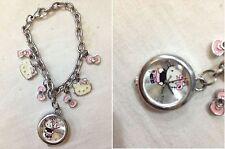 Hello Kitty - Bellissimo Bracciale con pendenti Hello Kitty e Orologio di 2cm