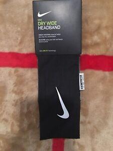 Nike Dry Wide Headband Dri -Fit Silicone For Grip Black Unisex OSFM