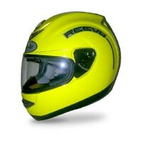 Reevu Msx 1 Rear View Motorcycle Helmet Hi Viz Yellow